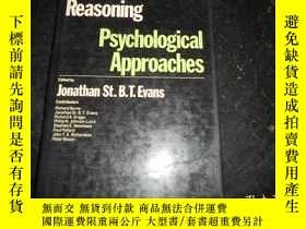 二手書博民逛書店THINKING罕見AND REASONING PSYCHOLOGICAL APPROACHESY159723