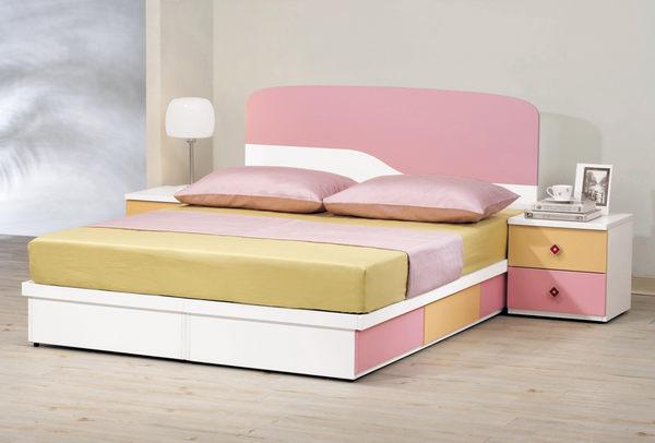 【森可家居】安妮塔5尺抽屜式床底 7CM133-5 (不含床墊) 雙人兒童床底 抽屜式床底 粉紅色