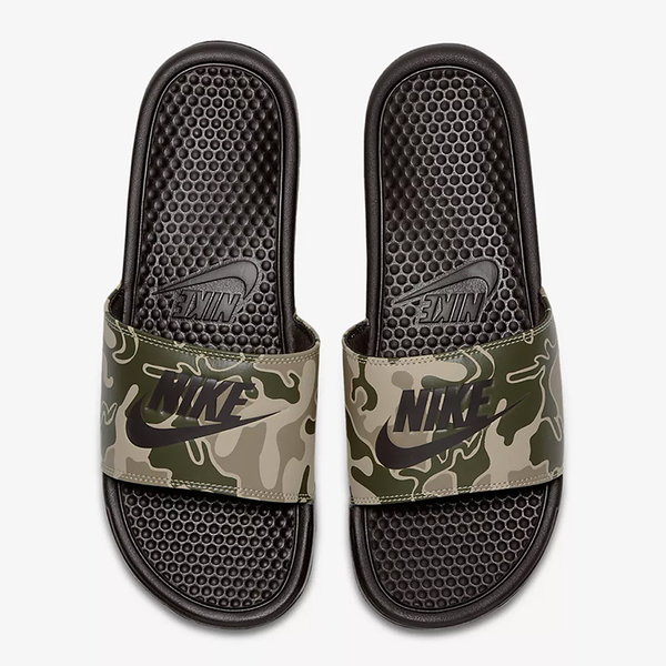 Nike Benassi Just Do It Print 男鞋 女鞋 拖鞋 休閒 迷彩 【運動世界】 631261-202