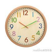 家用個性鐘表時鐘掛鐘客廳時尚現代簡約靜音大氣北歐表創意潮流鐘 美芭igo