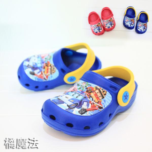 童裝 童鞋  POLI 安寶 羅伊 救援小英雄 園丁鞋 洞洞沙灘鞋 拖鞋 兒童 橘魔法 迪士尼 disney