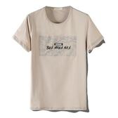 短袖T恤-絲光棉圓領貼布印花男上衣3色73mj33[巴黎精品]
