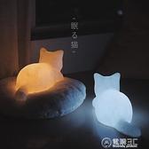 可愛小夜燈貓的晚安氛圍燈少女心送女朋友閨蜜有紀念意義生日禮物 電購3C