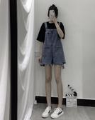 2020夏季新款韓版ins寬鬆減齡高腰闊腿牛仔褲港風百搭背帶褲女潮 非凡小鋪