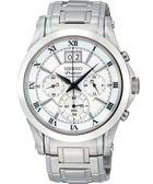 【僾瑪精品】SEIKO Premier 大視窗 羅馬時標 時尚計時腕錶-銀/41mm  7T04-0AA0S(SPC063J1)