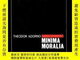 二手書博民逛書店Minima罕見Moralia-最低限度的道德Y436638 Theodor Adorno Verso, 19
