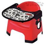 〔小禮堂嬰幼館〕迪士尼 米奇 日製幼兒用餐椅組《紅.造型簍空》有安全固定帶 4904121-30373