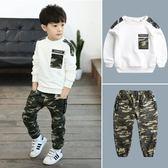 男童套裝童裝新款兒童迷彩男孩正韓兩件套潮衣【情人節禮物限時八折】