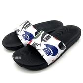 《7+1童鞋》NIKE Kawa Slide SE JDI 塗鴉LOGO印花 親子款 輕量 運動 拖鞋 G880 黑色