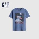 Gap男童 趣味互動圓領T恤 855014-藍色