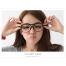 東區店面時尚小物 低調霧面黑膠框眼鏡鏡框...