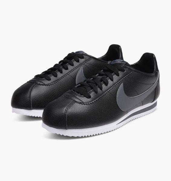 Nike Classic Cortez Leather 黑灰 皮革 阿甘 復古 749571-011