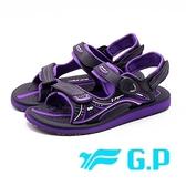 【南紡購物中心】G.P高彈力緩震舒適涼鞋 女鞋 - 紫