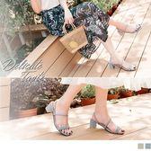 《SD0195》仿麂皮繫帶造型粗跟涼鞋/拖鞋 OrangeBear