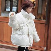 短版大衣 寬鬆休閒面包服短款蓬蓬加厚夾棉襖衣外套冬季  都市時尚