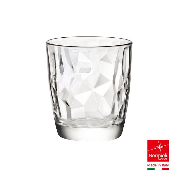 義大利Bormioli Rocco 鑽石水杯-390cc(透明) 飲料杯 茶杯 喝水 補水 飲料 果汁 牛奶 派對 好生活