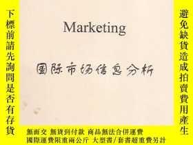 二手書博民逛書店Analyse罕見Market Date Marketing國際