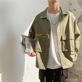 秋冬季薄款工裝外套男士韓版潮牌帥氣衣服潮流寬鬆很仙的夾克 【全館免運】