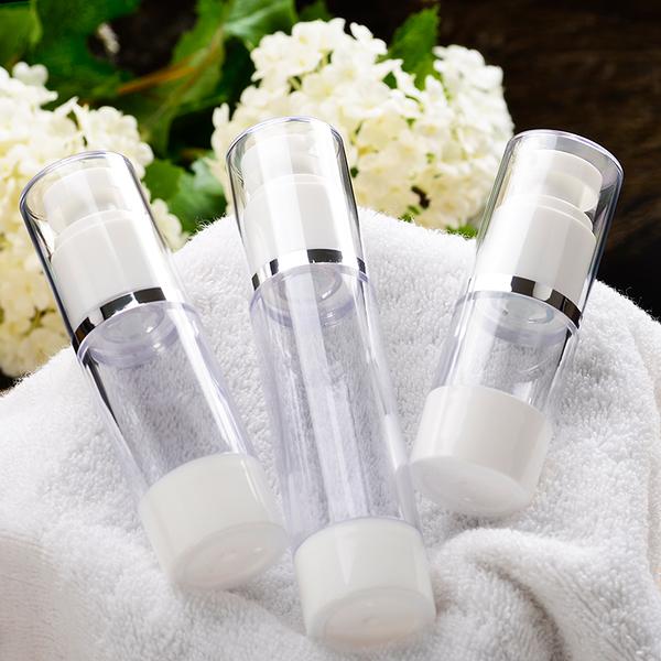 『藝瓶』瓶瓶罐罐 空瓶 空罐 化妝保養品分類瓶 填充容器 按壓瓶 銀邊乳液/壓泵真空分裝瓶-15ml