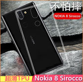 極致超薄 諾基亞 Nokia 8 Sirocco X71 手機殼 超薄TPU 防水印 Nokia8s 透明殼 保護套 諾基亞X71 手機套