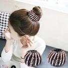 頭飾 懶人髮夾頭飾丸子頭卡子扎馬尾扣髮夾鳥巢髮圈盤髮抓夾韓國飾品女