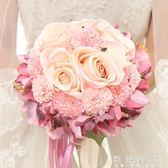 仿真韓式婚紗玫瑰新娘手捧花  歐韓時代