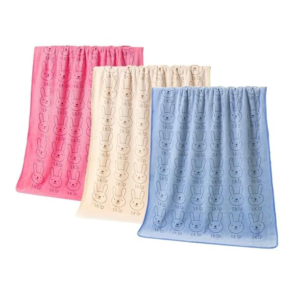 兔子大浴巾(140x70cm)1入 粉紅/米色/藍色/紫色款式可選【小三美日】原價$139