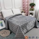 毛毯水晶絨雙面毛絨床單加厚夾棉防滑珊瑚絨空調毯【淘夢屋】