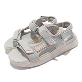 Puma 涼鞋 Future Rider Sandal 灰 粉紅 厚底 魔鬼氈 女鞋 涼拖鞋【ACS】 372318-03