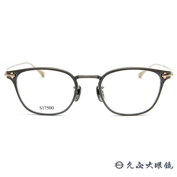 TAYLOR 眼鏡 日本手工 鈦 近視眼鏡 SOLE 199 C06 仿舊銀-金 久必大眼鏡