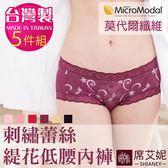 女性 MIT舒適 低腰蕾絲褲 莫代爾纖維 台灣製造 No.229 (5件組)-席艾妮SHIANEY
