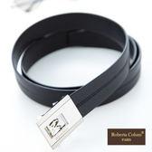 Roberta Colum - 極致紳士品味自動金屬滑扣黑牛皮皮帶