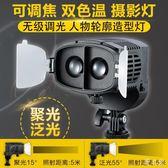 LED攝影燈影棚補光攝像影室拍照調焦常亮外拍mj6528【野之旅】TW