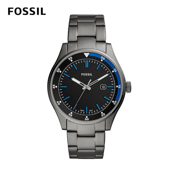 FOSSIL BELMAR 灰色不鏽鋼男錶 44mm FS5532