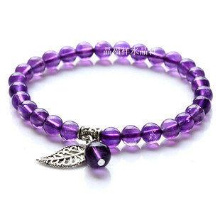 紫水晶藏銀手鏈