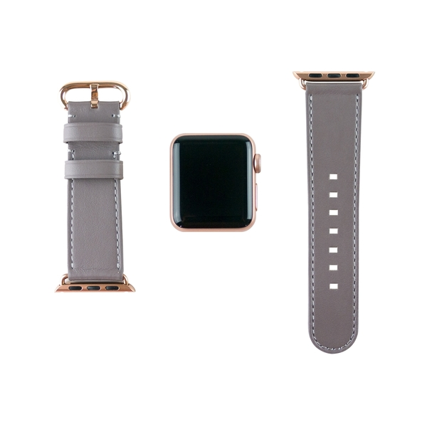 Alto Apple Watch 皮革錶帶 38/40mm - 礫石灰 適用於 Apple Watch Series 1-6 & SE