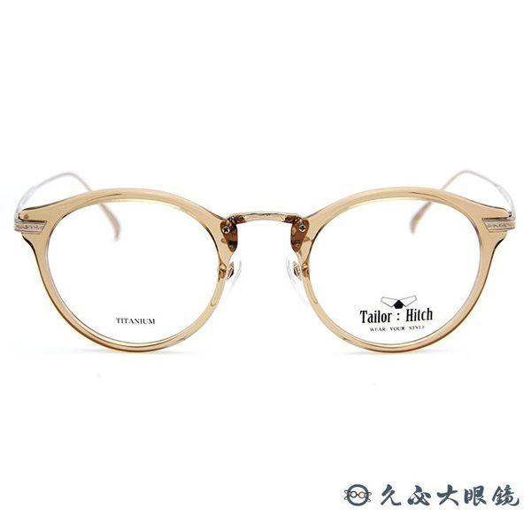 Tailor:Hitch 眼鏡 日本手工 鈦 近視眼鏡 PATTERN X-10 S-13 透膚-金 久必大眼鏡