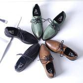 店長推薦春季單鞋女夏平底布洛克女鞋英倫真皮系帶尖頭復古小皮鞋休閒學院