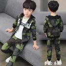 童裝男童秋裝套裝新款洋氣帥氣兒童男孩春秋運動迷彩服兩件套 雙十二全館免運