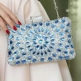 宴會包 包包女2019歐美時尚鑲鉆晚宴包小方晚裝包百搭女式手拿包 KV4199 『小美日記』