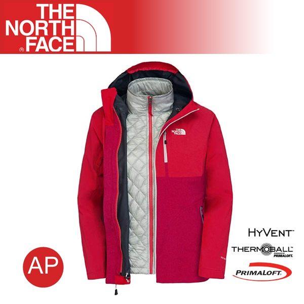 【The North Face 女 HV/TB兩件式外套《 櫻桃粉灰/紅》】C647/防水外套/輕量/防風外套
