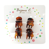 Bijoux C. 韓製小髮夾 4入【BG Shop】顏色隨機出貨