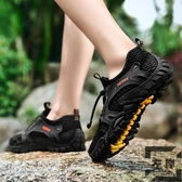 男鞋透氣網鞋運動休閒鞋登山鞋耐磨防滑徒步鞋子爬山鞋【左岸男裝】