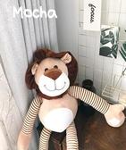 全館83折 韓風chic笑臉獅子座窗簾扣 掛脖毛絨玩具公仔送男友情人節禮物