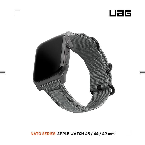 UAG Apple Watch 42/44/45mm Nato尼龍錶帶-灰