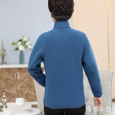 新款大碼時尚中老年棉衣媽媽裝秋裝棉襖搖粒絨外套女老年人年衛衣 OO19『毛菇小象』