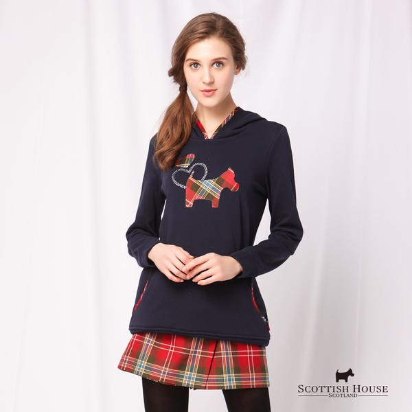 胸前愛心梗犬 連帽長袖上衣 Scottish House【AD1265】