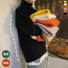 半高領毛衣男厚款寬鬆針織衫慵懶風潮流個性線衣加厚外套 歐韓流行館