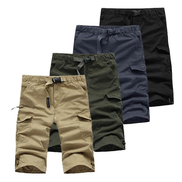 【美國熊】日韓風格 百搭款 質感保證 多口袋 七分工作短褲 有大尺碼 [NUQ-914]