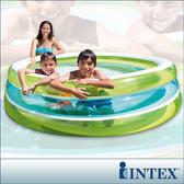 【INTEX】圓型三層透明泳池(57489)+手機防水袋(59800)
